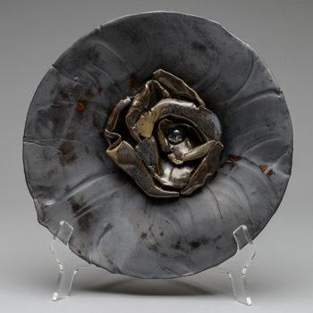 Image: Burnished Steel Plate - Lois Sattler, American Artist, Ceramicist