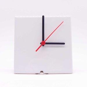 Relógio Sublimático de Azulejo Quadrado Branco 15x15 cm
