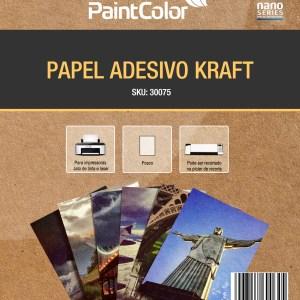 Papel Adesivo Kraft para Jato de Tinta 135g A4 - 10 Folhas