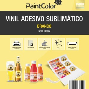 Vinil Adesivo Sublimático Branco A4 10 Folhas