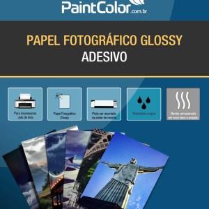 Papel Fotográfico Glossy Adesivo para Jato de Tinta 135g A4 100 Folhas