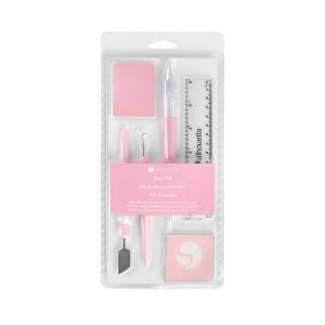 Ferramentas Essenciais Rosa Silhouette - Kit com 6 Peças