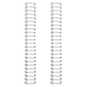 Espiral para Encadernação Wire o The Cinch Prata 19mm - 2 Unidades
