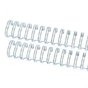 Espiral para Encadernação Wire o The Cinch Prata 25mm - 2 Unidades
