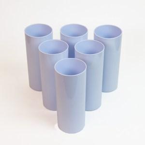 Copo Long Drink Sublimático Branco de Polímero 330ml - 6 Unidades