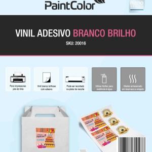 Vinil Adesivo para Jato de Tinta Branco Glossy A4 100 Folhas