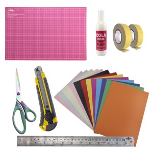 Kit de Materiais para Scrapbook com base A3