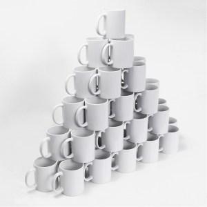 Caneca de Porcelana para Sublimação Premium 325ml - 36 Unidades