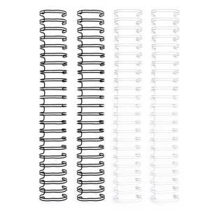 Espiral para Encadernação Wire o The Cinch Preto e Branco 25mm - 4 Unidades