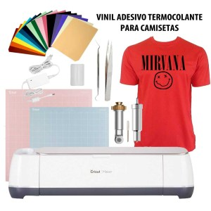 Plotter Recorte Cricut Maker + Kit Vinil Termocolante Camisetas
