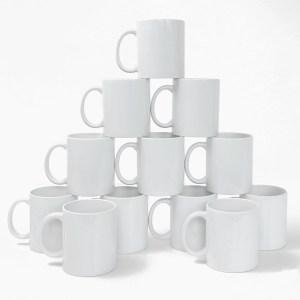 Caneca de Porcelana para Sublimação Premium 325ml - 12 Unidades