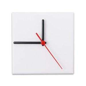 Relógio Fosco para Sublimação Quadrado Branco 15x15 - 10 Un.