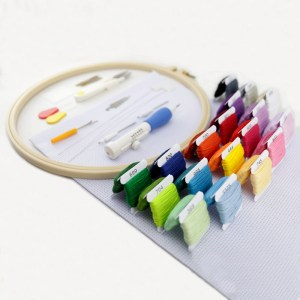 Kit Ponto Cruz Agulha Croche  e Acessórios Art Mak