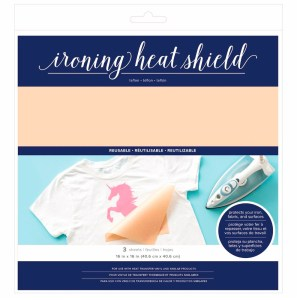 Ironing Heat Shield - 16 x 16(40x40 cm) - base de Teflon - 3 folhas