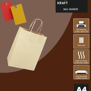 Kraft 185g A4 - 50 Folhas
