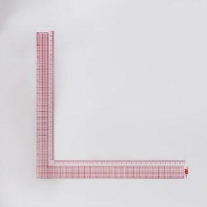 Régua Plástico 27x27cm L Quadrado Costura - Art Mak