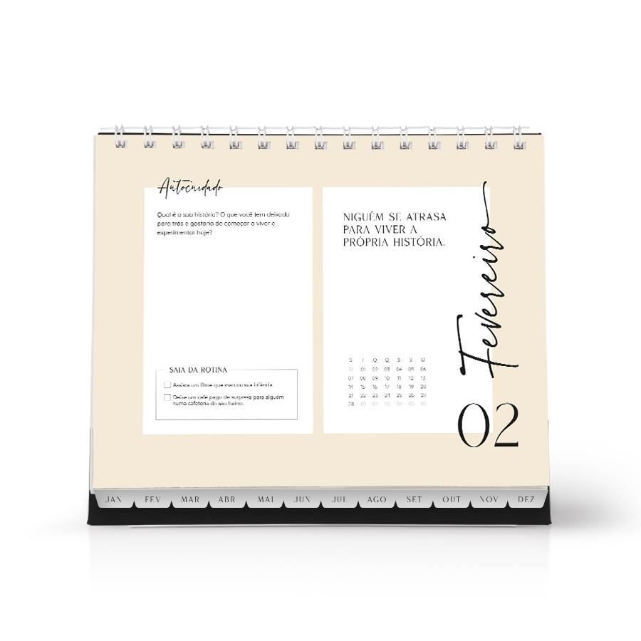 Calendário Antirrotina e do Autocuidado 2022 | Studio Luze