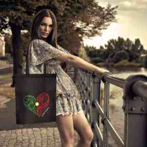 Portugal Heart Flag Bag