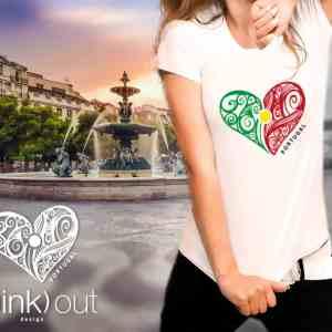 Portugal Heart Flag T-shirt