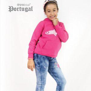 Hoodie de Criança Sardinha Rosa
