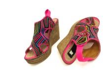 Sapatos de mola salto plataforma (tam. 37 / 24 cm)