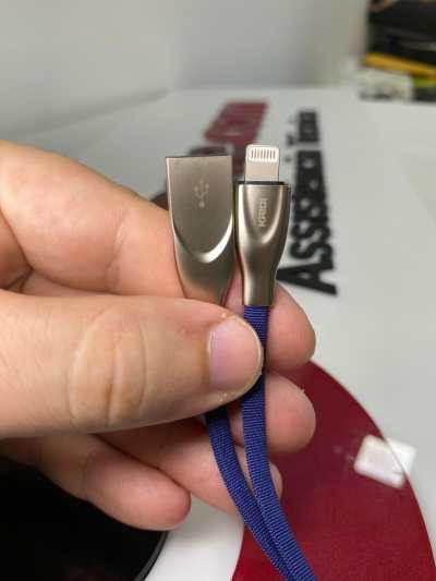 Cabo resistente em nylon e metal para iPhone – KD-316A
