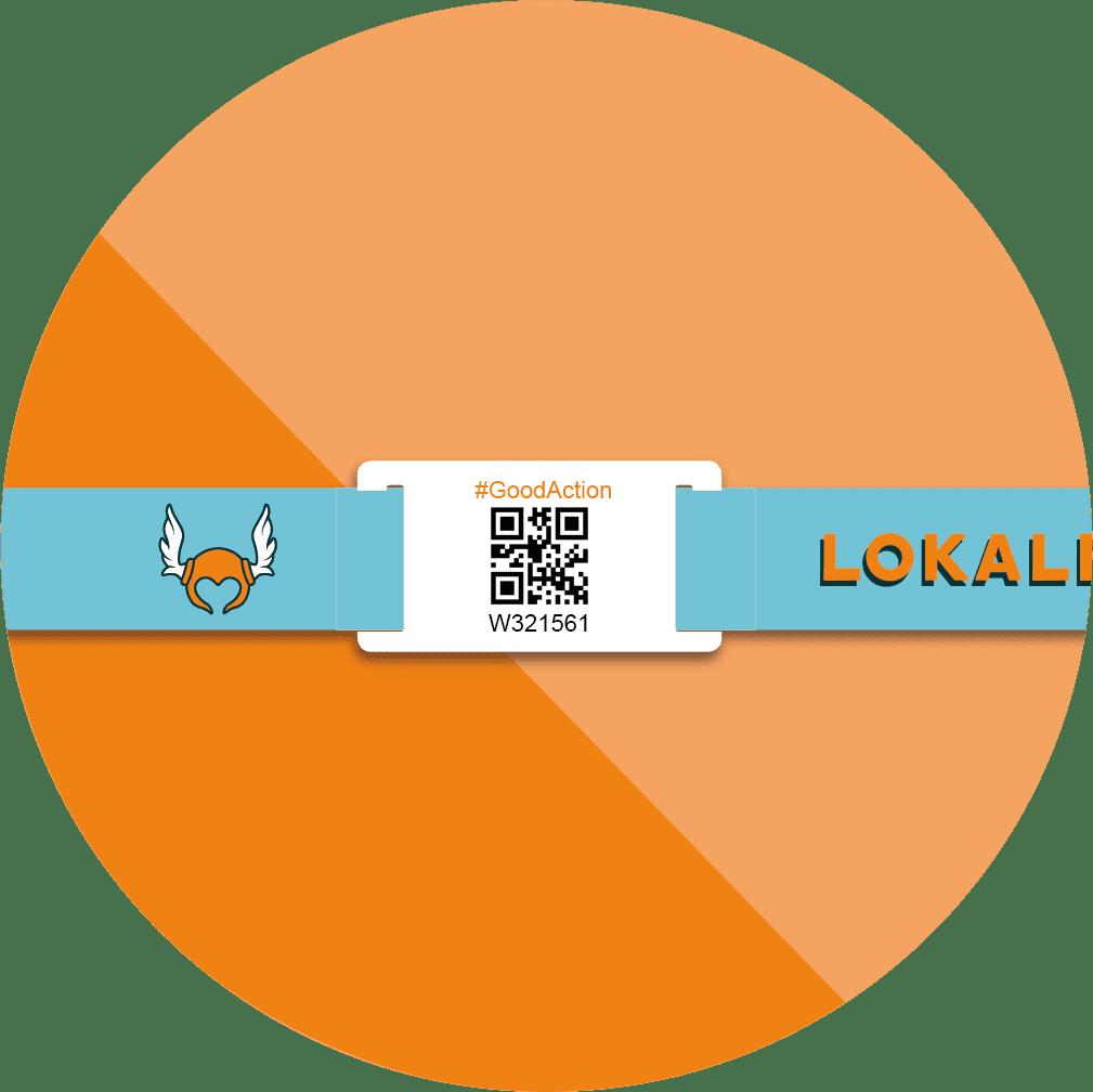 Bracelets QR Code individualisé en tissu recyclé LOKALERO