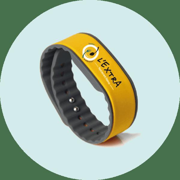 Bracelets ajustables silicone NFC personnalisés