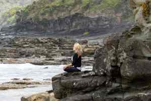 meditation along the sea