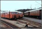 Gotlandsvagnarna har nått sin slutstation: Uddevalla 1962.