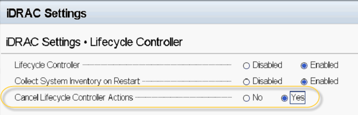 Lifecycle Controller update required on Dell server - BlackCat