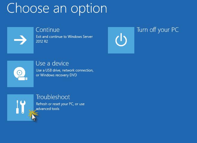 "Windows Server 2012R2 stuck at ""Updating your system"" - BlackCat"
