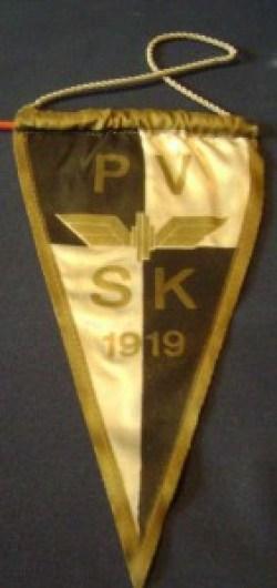 Възпоменателно флагче на унгарския железничарски тим Печ Вашуташ СК