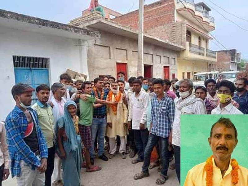 मजदूर अब गांव का बना प्रधान, 1 वोट से एसपी के दिग्गज नेता की बहू को दी शिकस्त