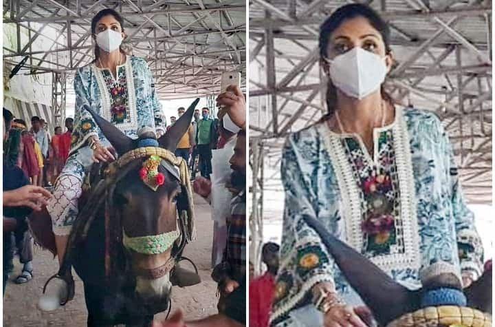 राज कुंद्रा के लिए मन्नत माता वैष्णो देवी के दरबार में पति शिल्पा शेट्टी