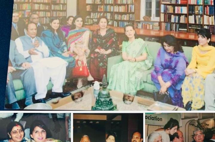 Under attack over friendship with Pakistani journalist Aroosa Alam, Capt Amarinder posts her pics with politicians, actors on Facebook