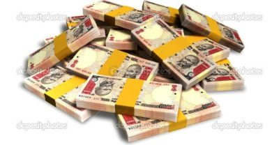 Rupee Notes Scattered Pile