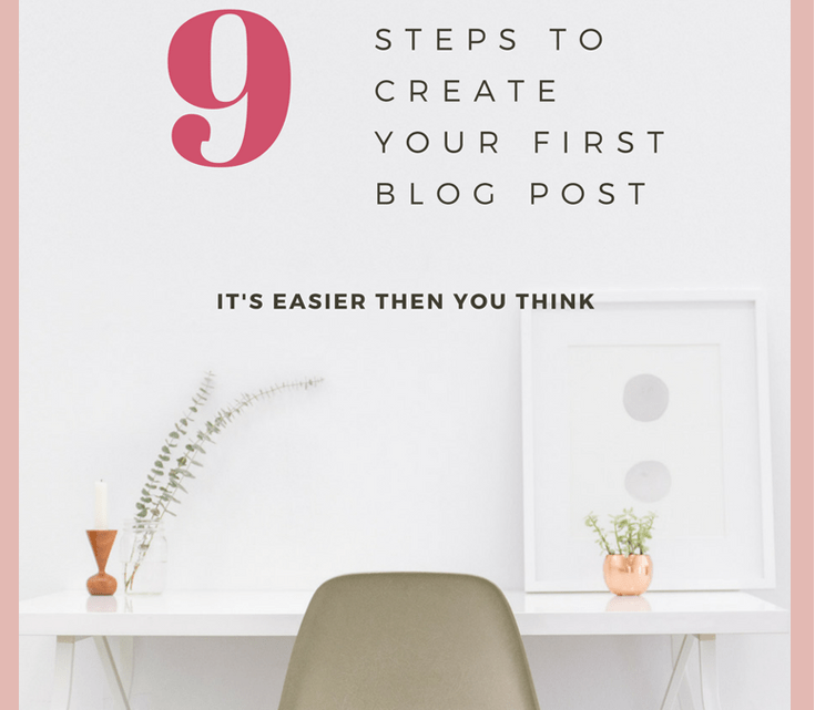 How to Create Your First Blog Post a step by step guide for beginners who are ready to set up a website and publish their first blog post