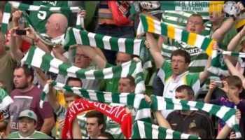 Adeptos do Celtic e Liverpool cantam JUNTOS, You will never walk alone
