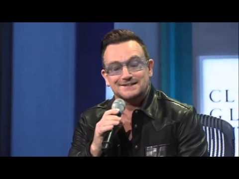 Bono imita Clinton num encontro promovido por Clinton Global Initiative (CGI)