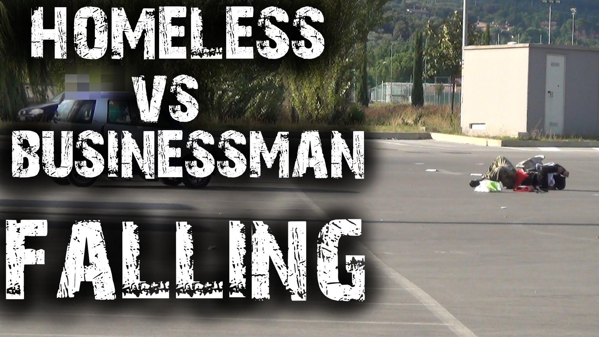 Sem-Abrigo vs Homem de Negócios: quem é ajudado quando cai na rua