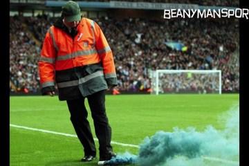 Árbitro atingido por very light no Aston Villa, Tottenham
