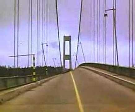 Ponte Tacoma Narrows, alguma vez viste uma ponte vibrar até partir ?
