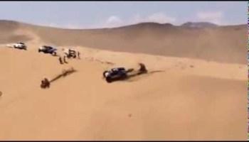 Atropelamento de Chabot a Miguel Puertas Dakar 2014