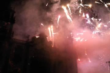 Não é o Dubai, mas o fogo de artifício no fim do ano em Viseu foi fantástico