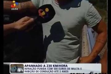 Português multado por conduzir a 230km/h
