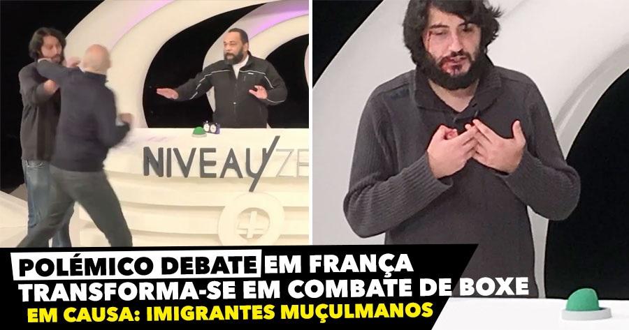 Debate transforma-se em combate de boxe em França