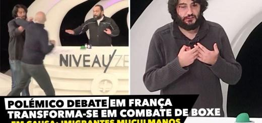 Debate em França transforma-se em combate de boxe