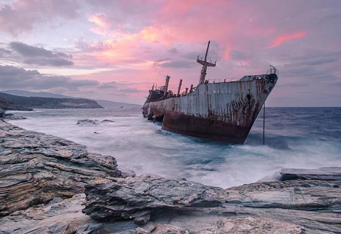 Semiramis, Ilha de Andros, Grécia