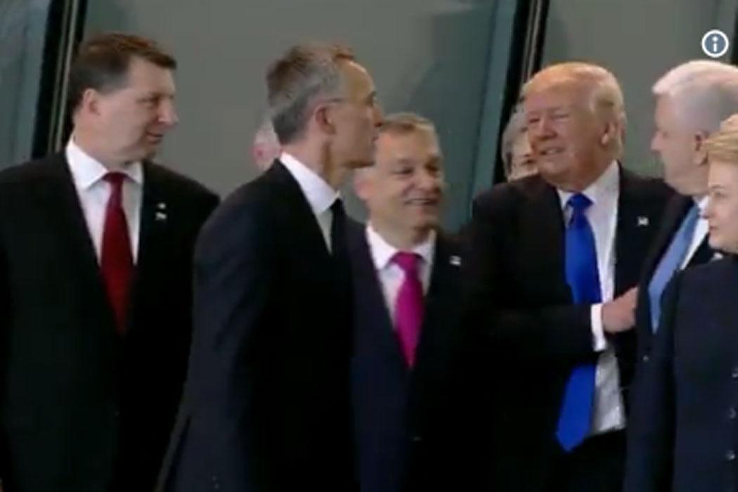 Trump empurra ministro
